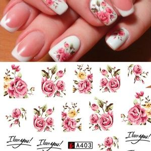 Other - Floral Nail Art Stickers